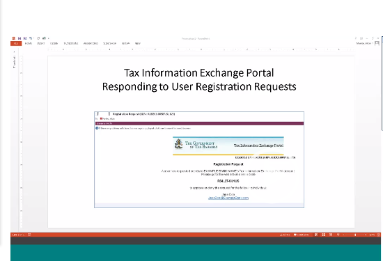 Tax Information Exchange Portal New User Registration