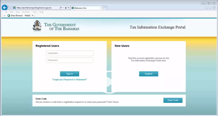 Tax Information Exchange Portal Processing
